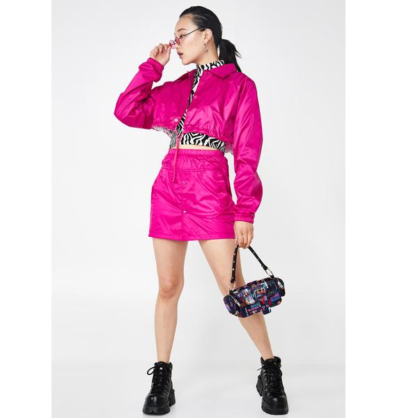 Rojas Fuchsia Coach Skirt