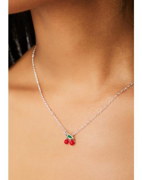 Tart Treat Cherry Necklace