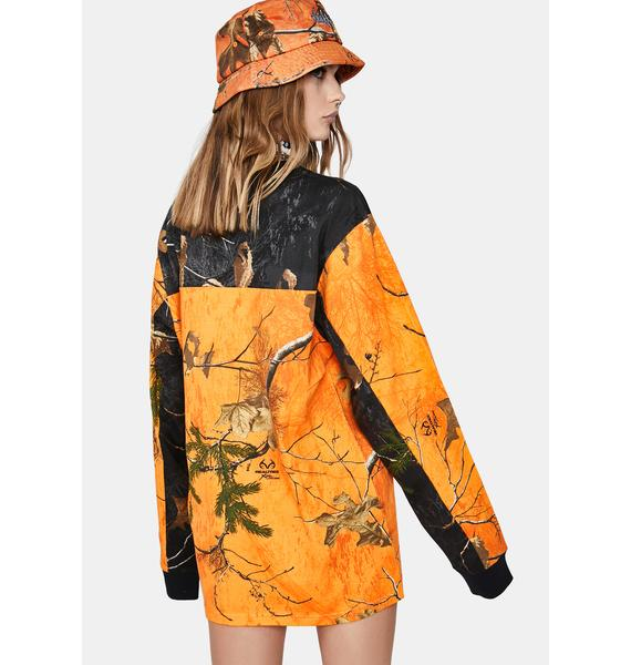 HUF Realtree Orange Endo Long Sleeve Jersey