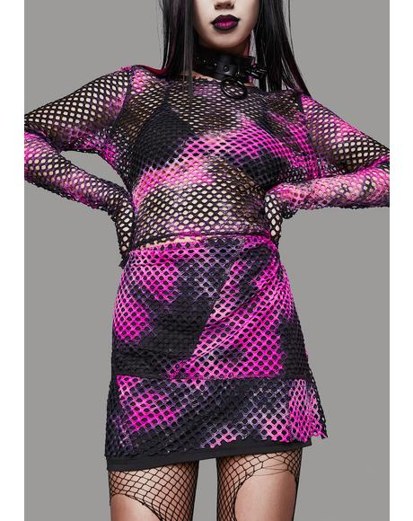 Twisted Sweet Revenge Mini Skirt