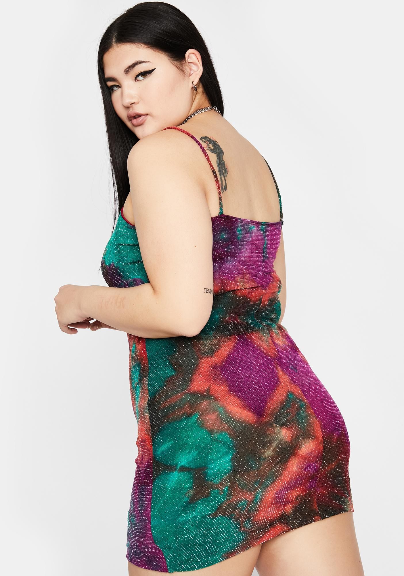 True Acidic Sparkle Tie Dye Dress