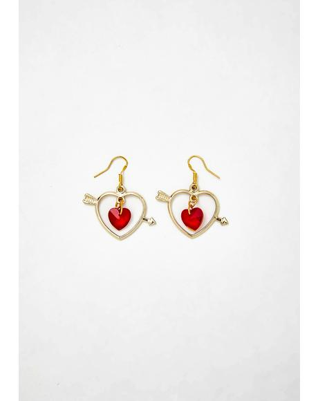 Valentine Vixen Heart Earrings