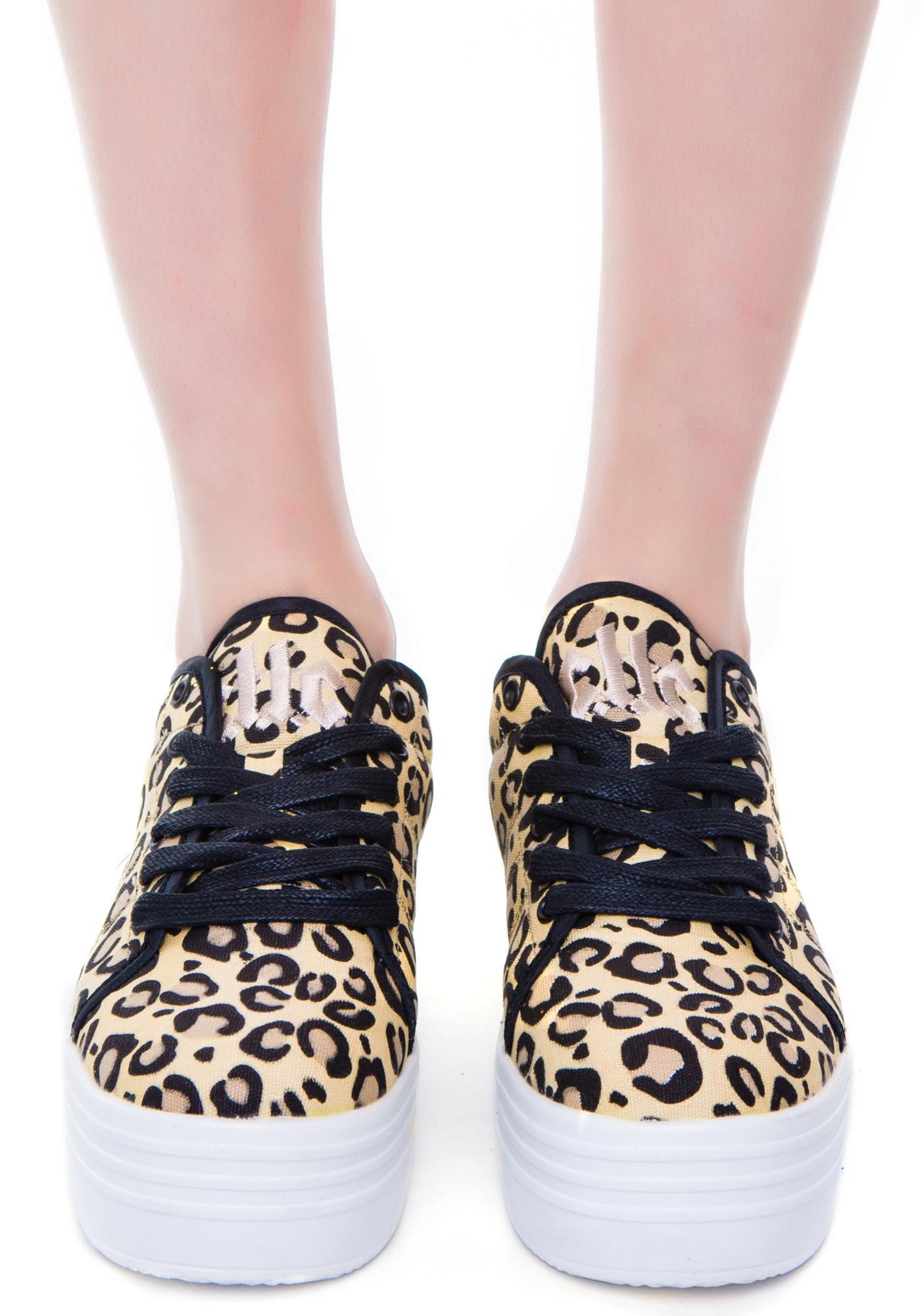 Blyke Leopard Platform Sneakers