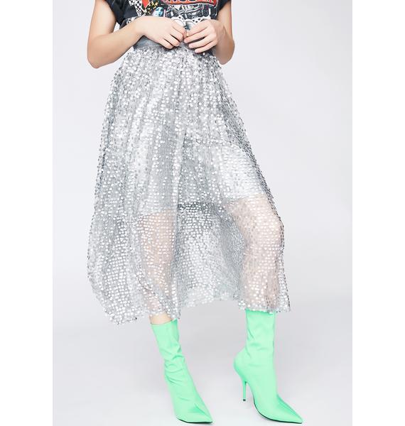 Glam Sparks A-Line Skirt