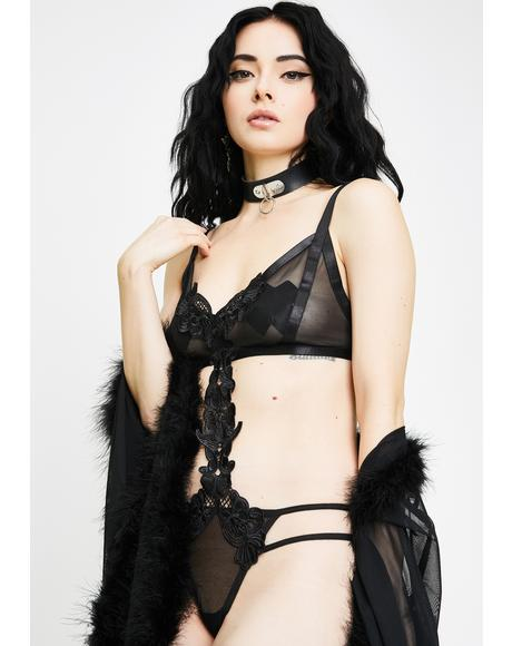 Dark Sweet Seduction Sheer Bodysuit