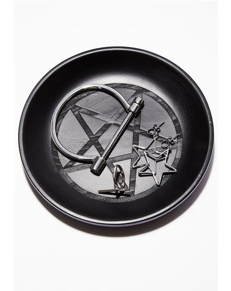 Wicca Wooden Catch All Dish