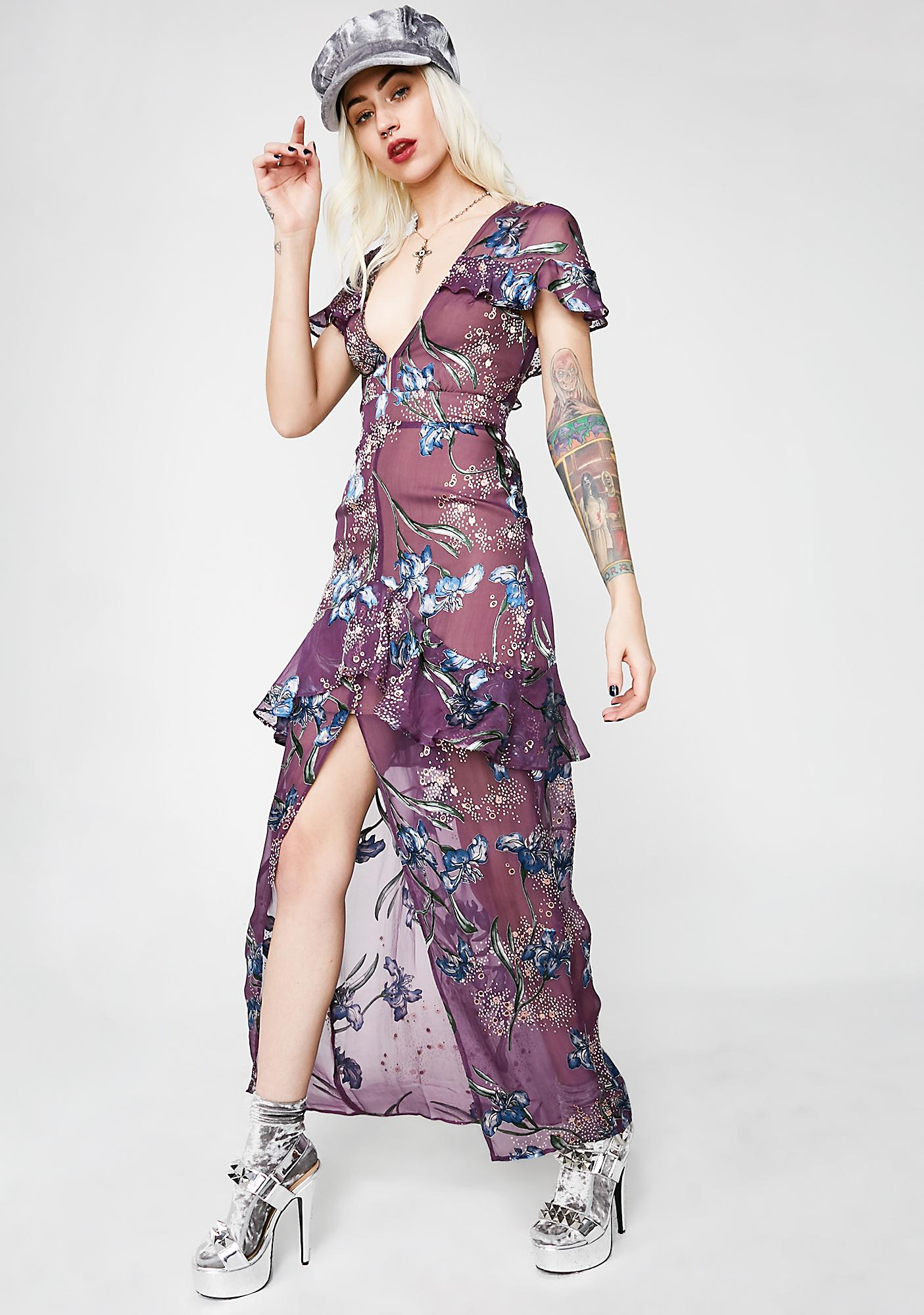 2cc97806d2136 For Love & Lemons Cleo Floral Maxi Dress | Dolls Kill