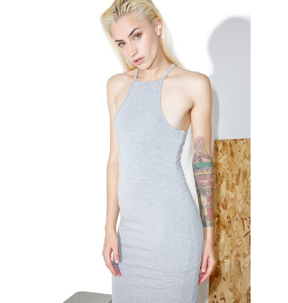 BLQ BASIQ High Neck Tank Midi Dress