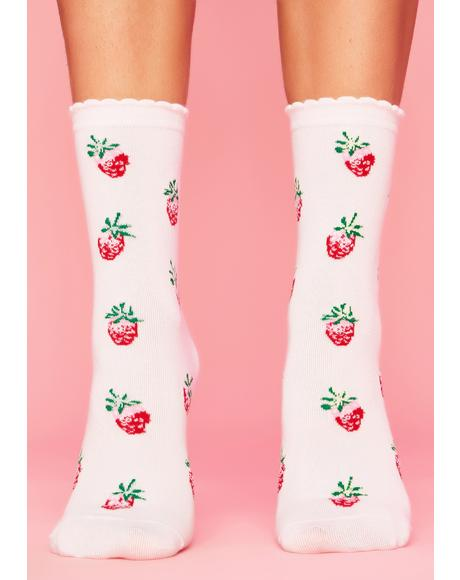 Bundle Of Luv Strawberry Socks