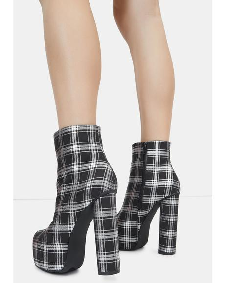 Black Questar Ankle Boots