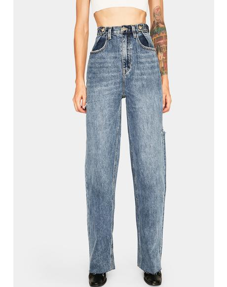 All Time Blues Slash Hi & Loose Jeans