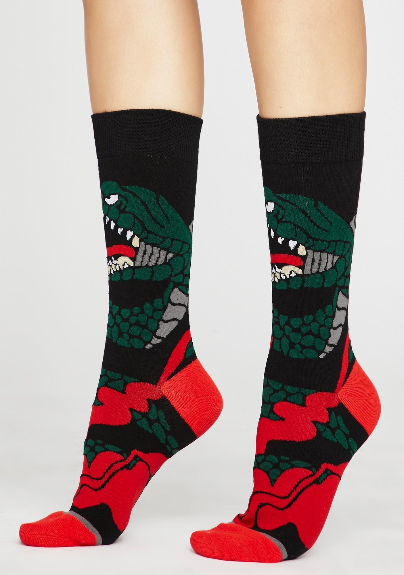 Fire Breathin' Dragon Socks