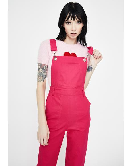Candy Rolled Cuff Overalls