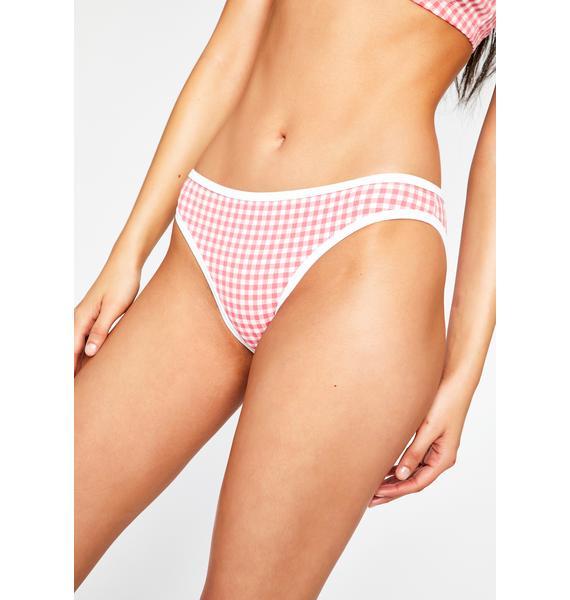 Lazy Oaf Esther Gingham Bikini Bottoms