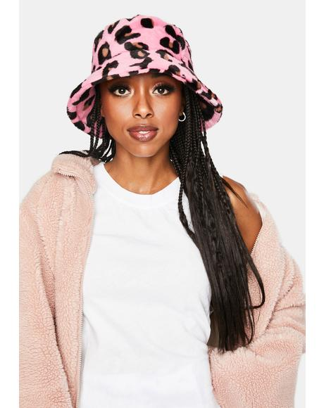 Sweet Crush On Me Faux Fur Bucket Hat