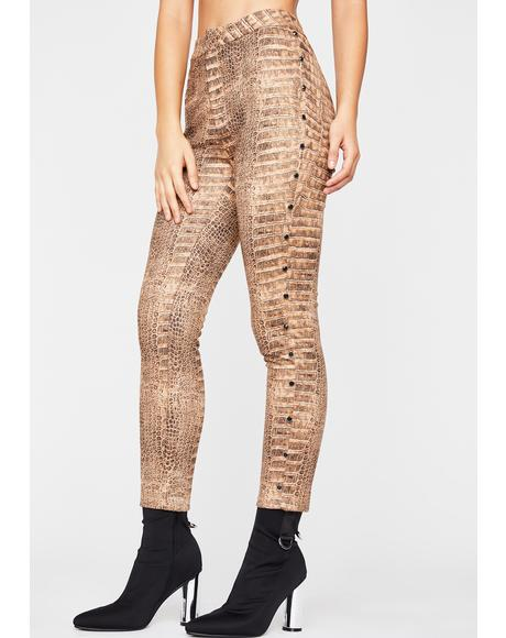 Hunt Me Down Snakeskin Pants