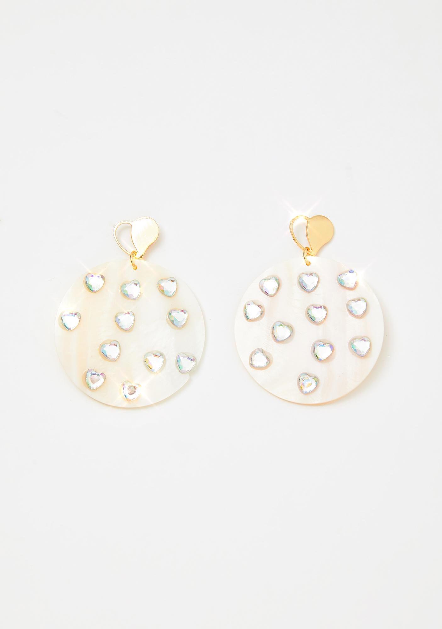 Heart Feelings Rhinestone Earrings