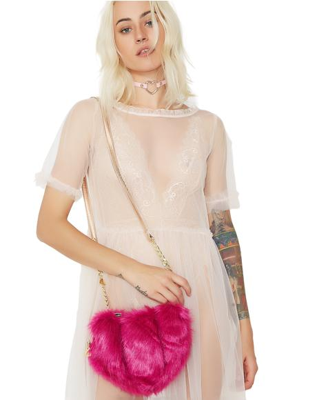 Fur Your Eyes Only Heart Crossbody