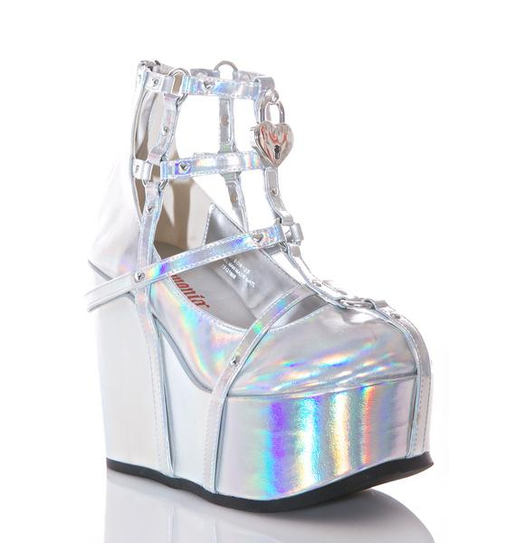 Demonia Neo Romance Holographic Wedges