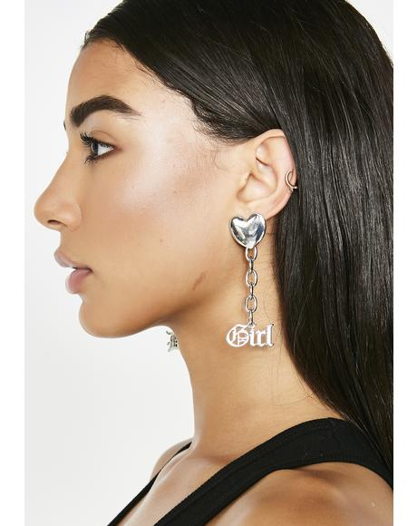 Brat Pack Chain Earrings