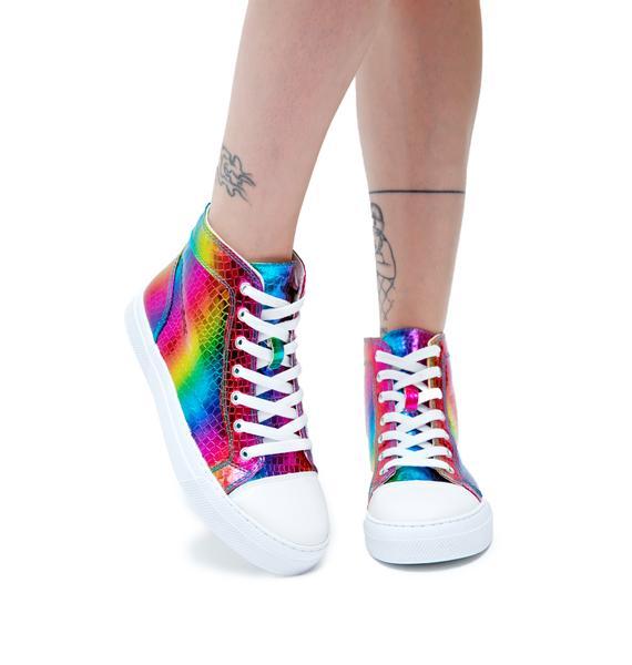 Rainbow Lover High Top Sneakers