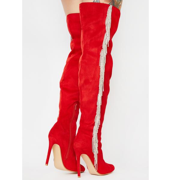 Hottie Leave A Message Knee High Boots