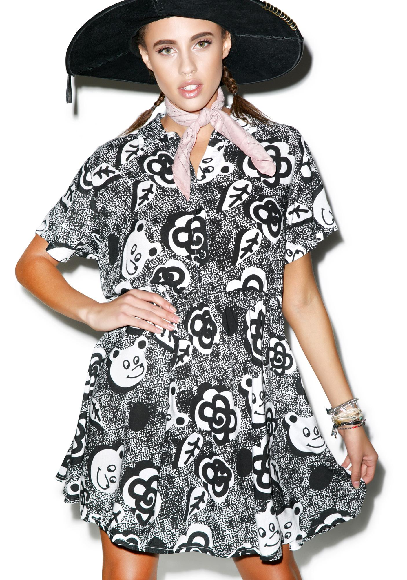 Lazy Oaf Mono Bear Dress