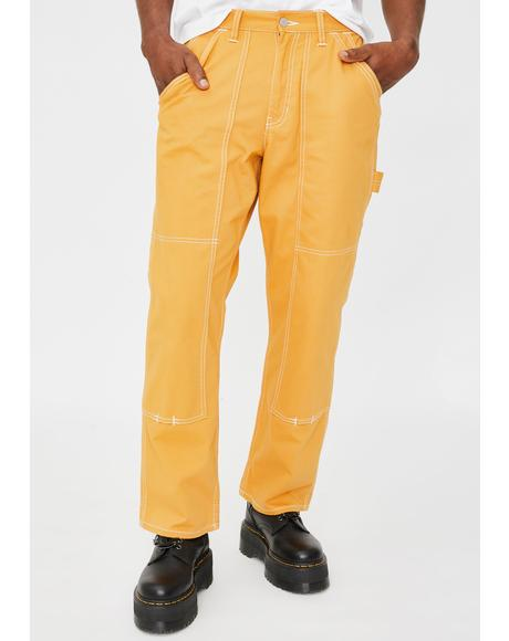 Yellow Stitch Painter Pants