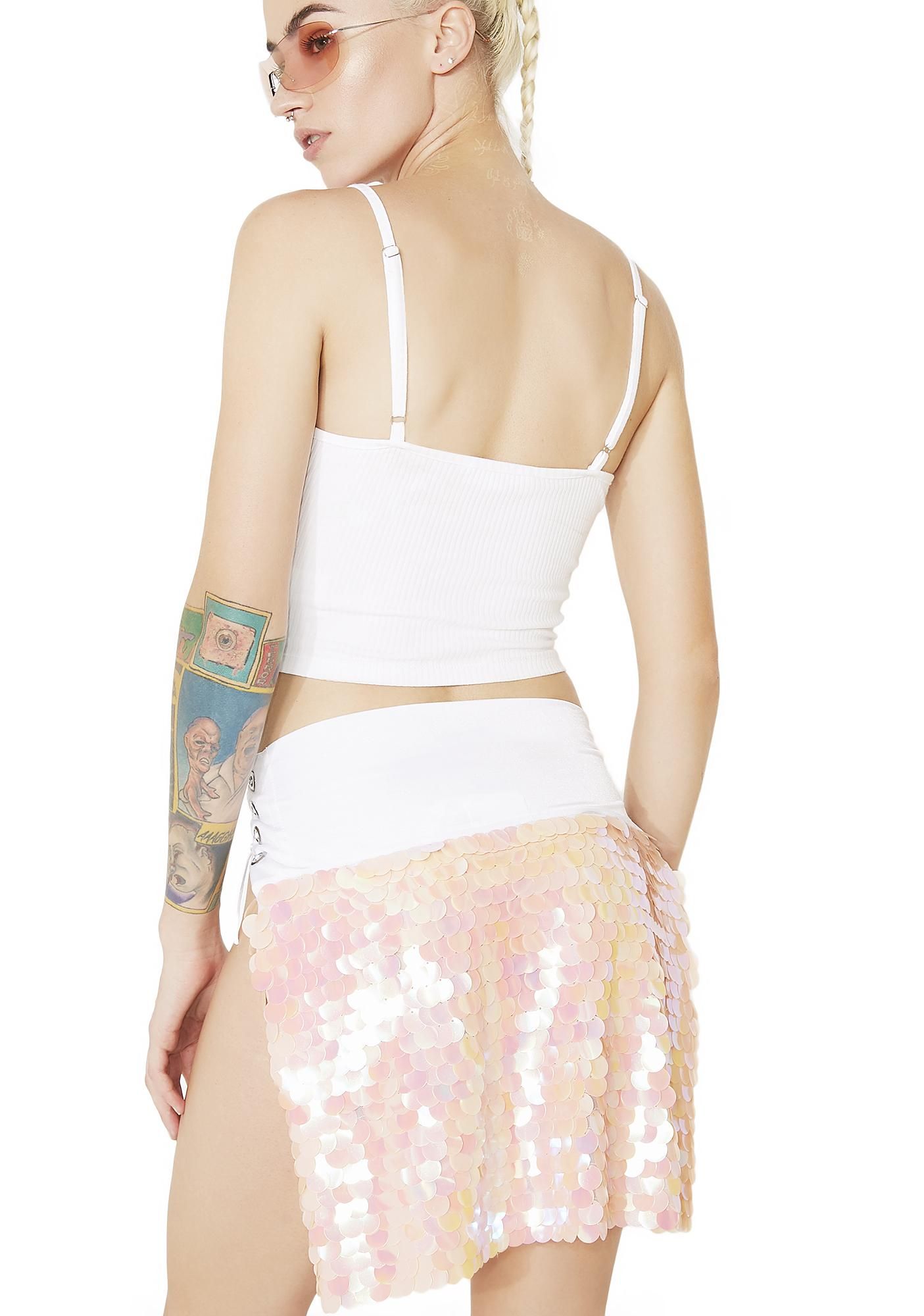The Lyte Couture Sunset Gypsy Mini Mermaid Panel Skirt