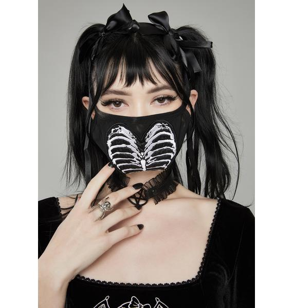 Widow Hateful Bones Face Mask