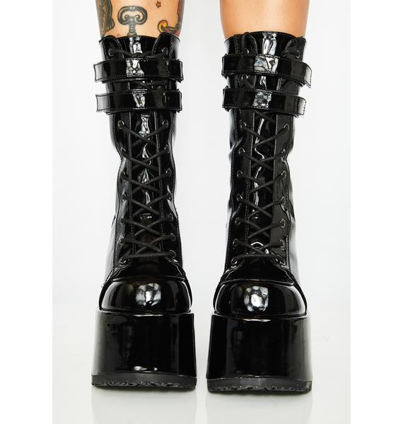 Demonia Wicked Energy Enigma Platform Boots