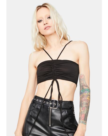 Look At Me Ruched Halter Top