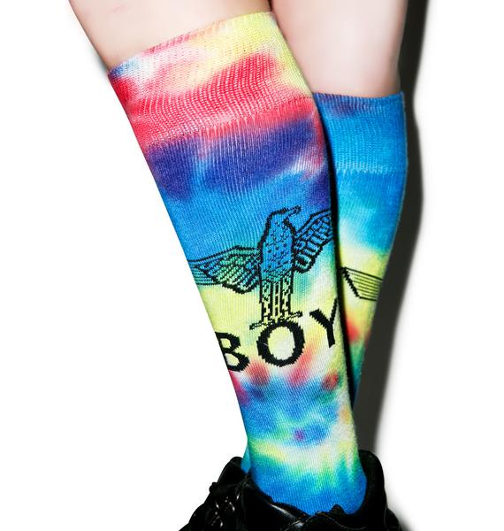 BOY London Eagle Boy Knee Socks