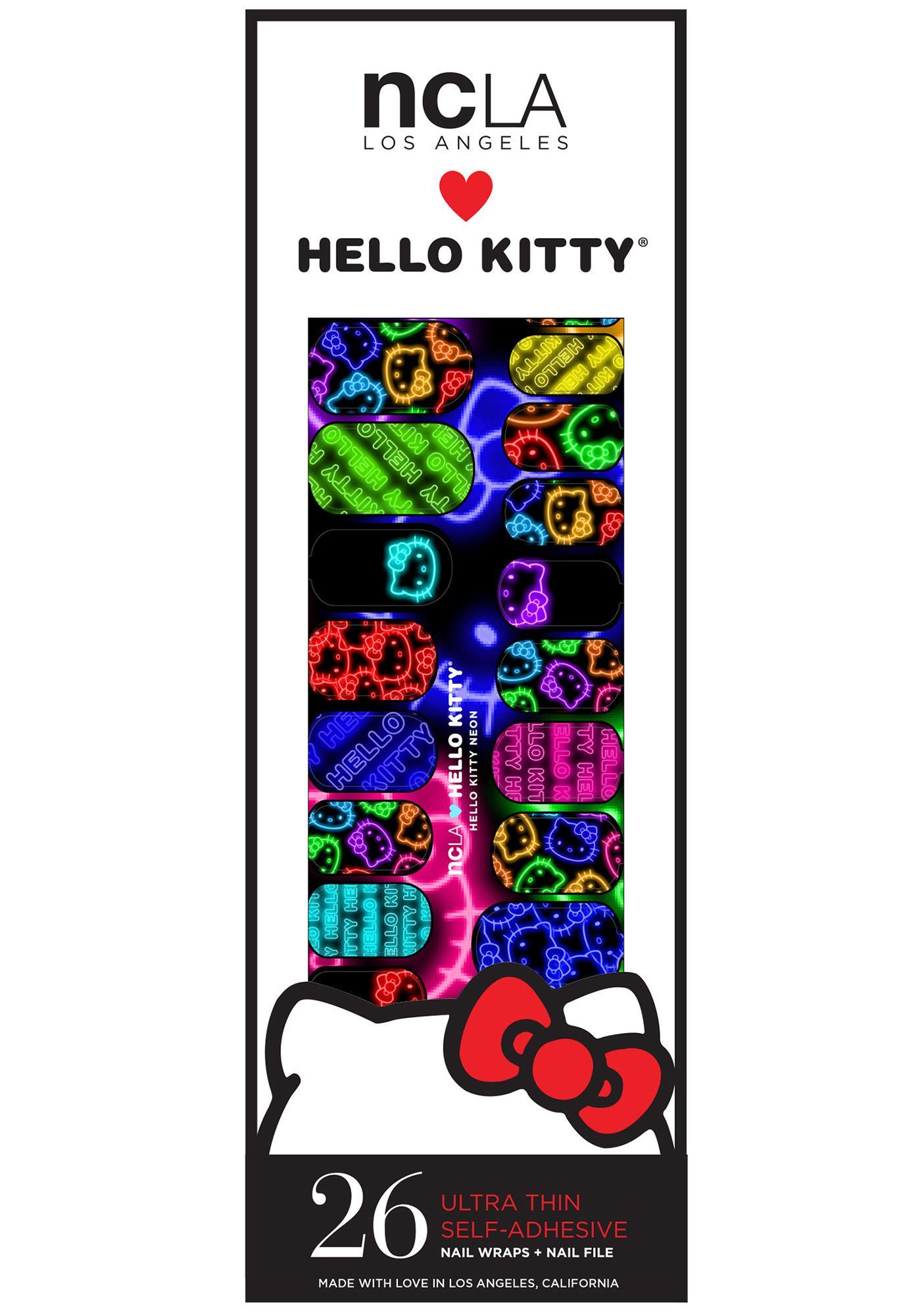 NCLA Hello Kitty Neon Nail Wraps
