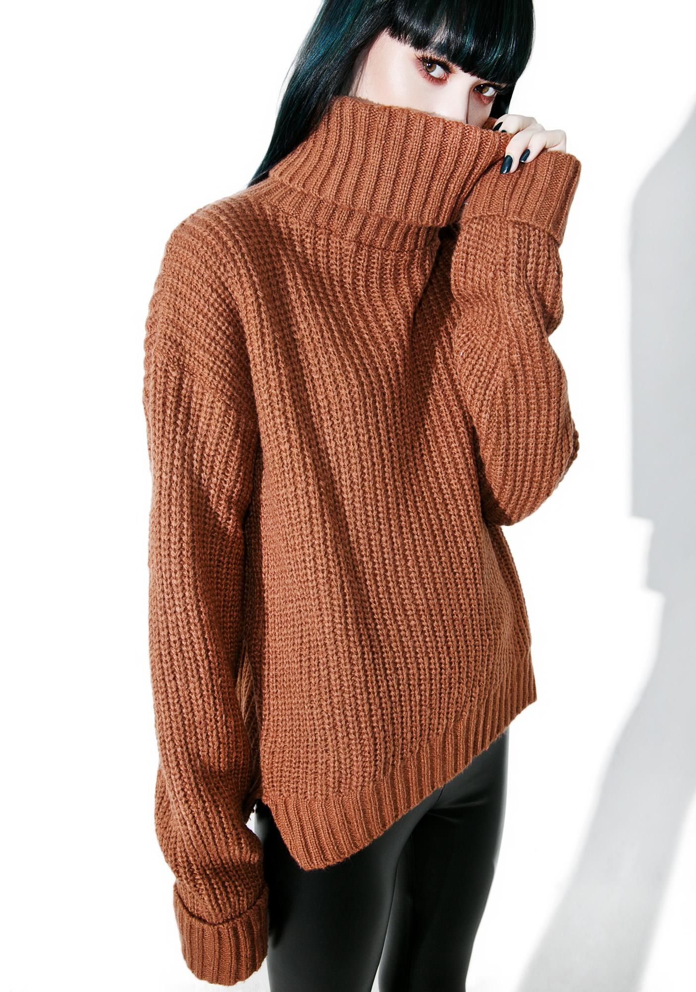 Glamorous Macchiato Turtleneck Sweater