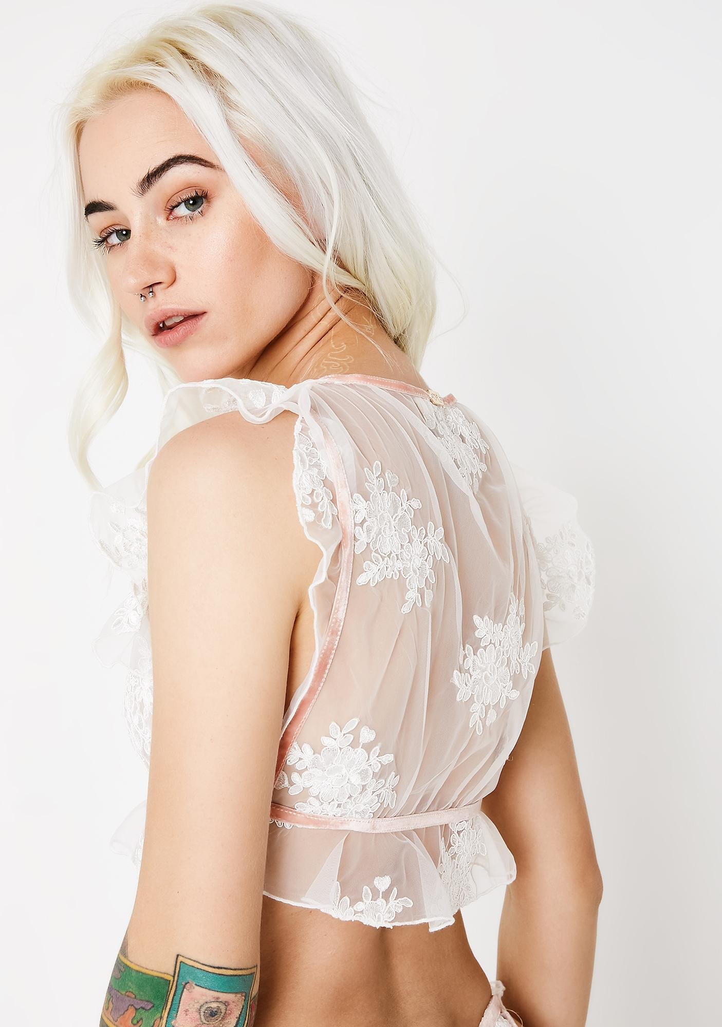 For Love & Lemons Amber Illusion Crop Top