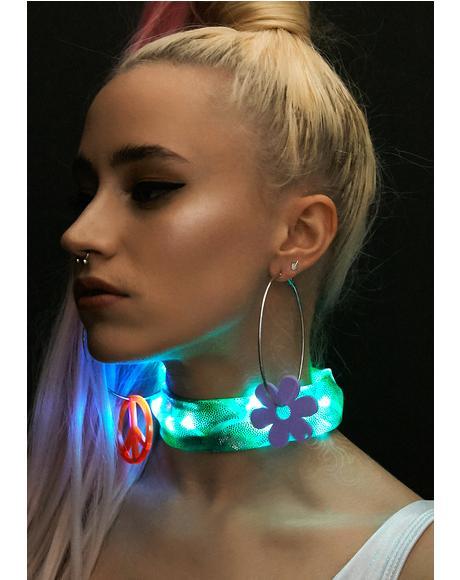 Aqua Light-Up Mermaid Choker