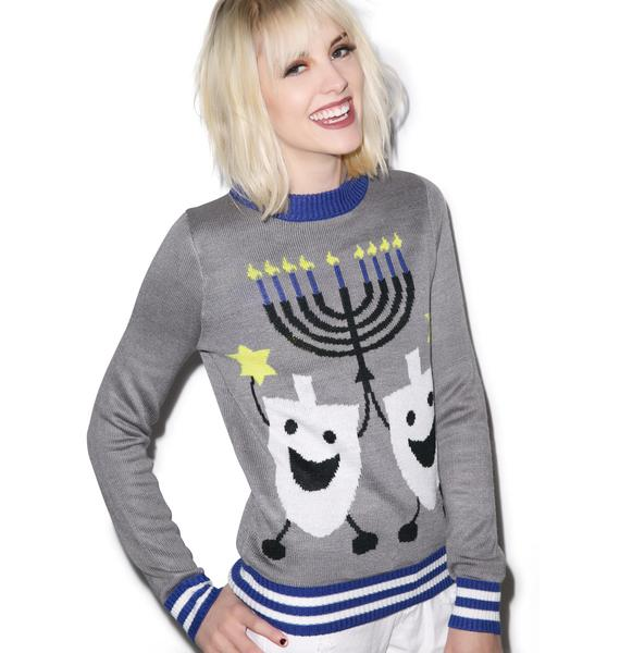 Tipsy Elves Hanukkah Sweater