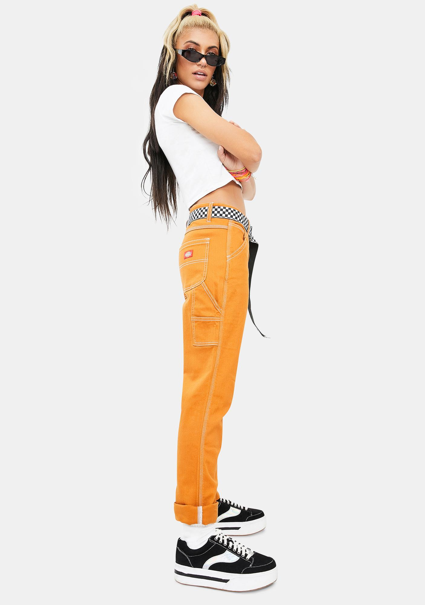 Dickies Girl Autumn Glow Slim Carpenter Pants
