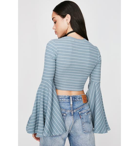 Sky Teen Dream Striped Top