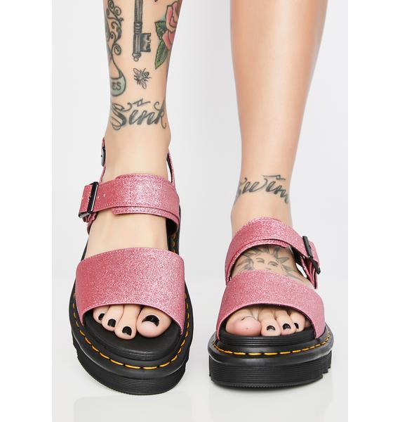 Dr. Martens Voss Fine Glitter Sandals