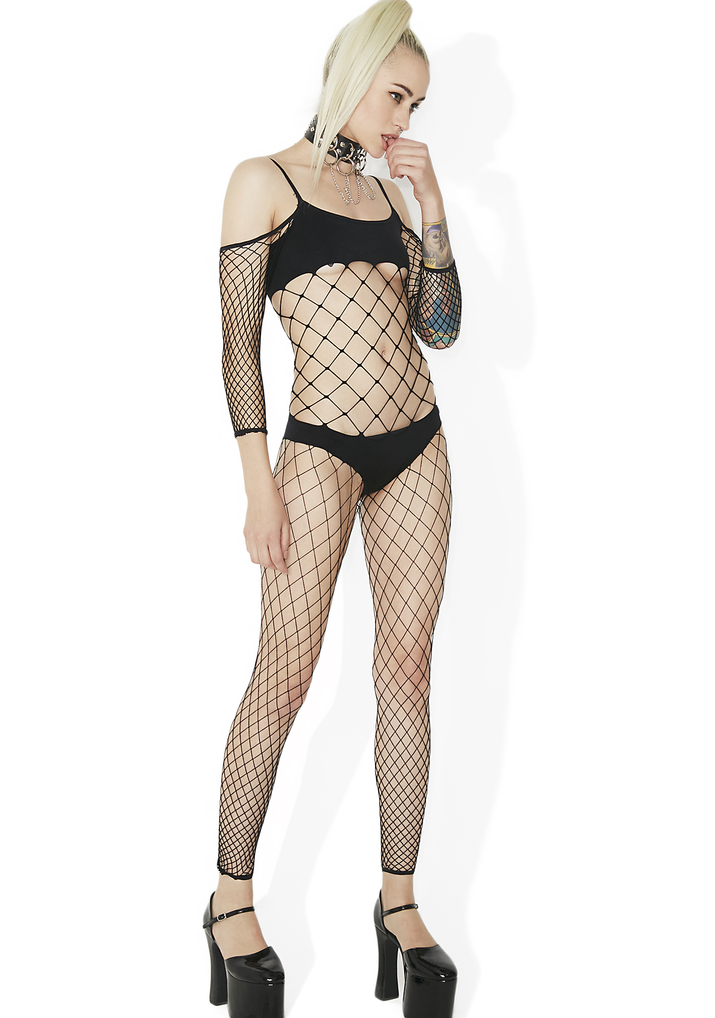 Black Bikini Fishnet Bodystocking