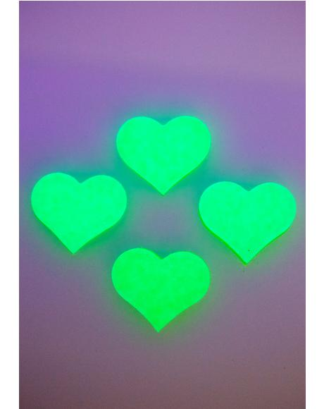 Neon Green Glow Body Stickers