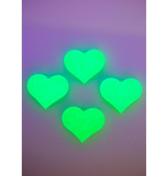 Pastease Neon Green Glow Body Stickers