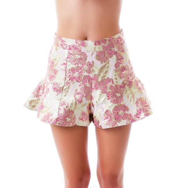 Not A Pansy Metallic Shorts