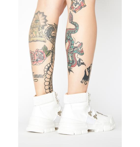 Bleached Close Combat Lace Up Boots