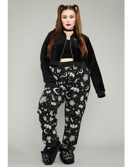 Luxe Dark Greetings Thermal Lounge Pants