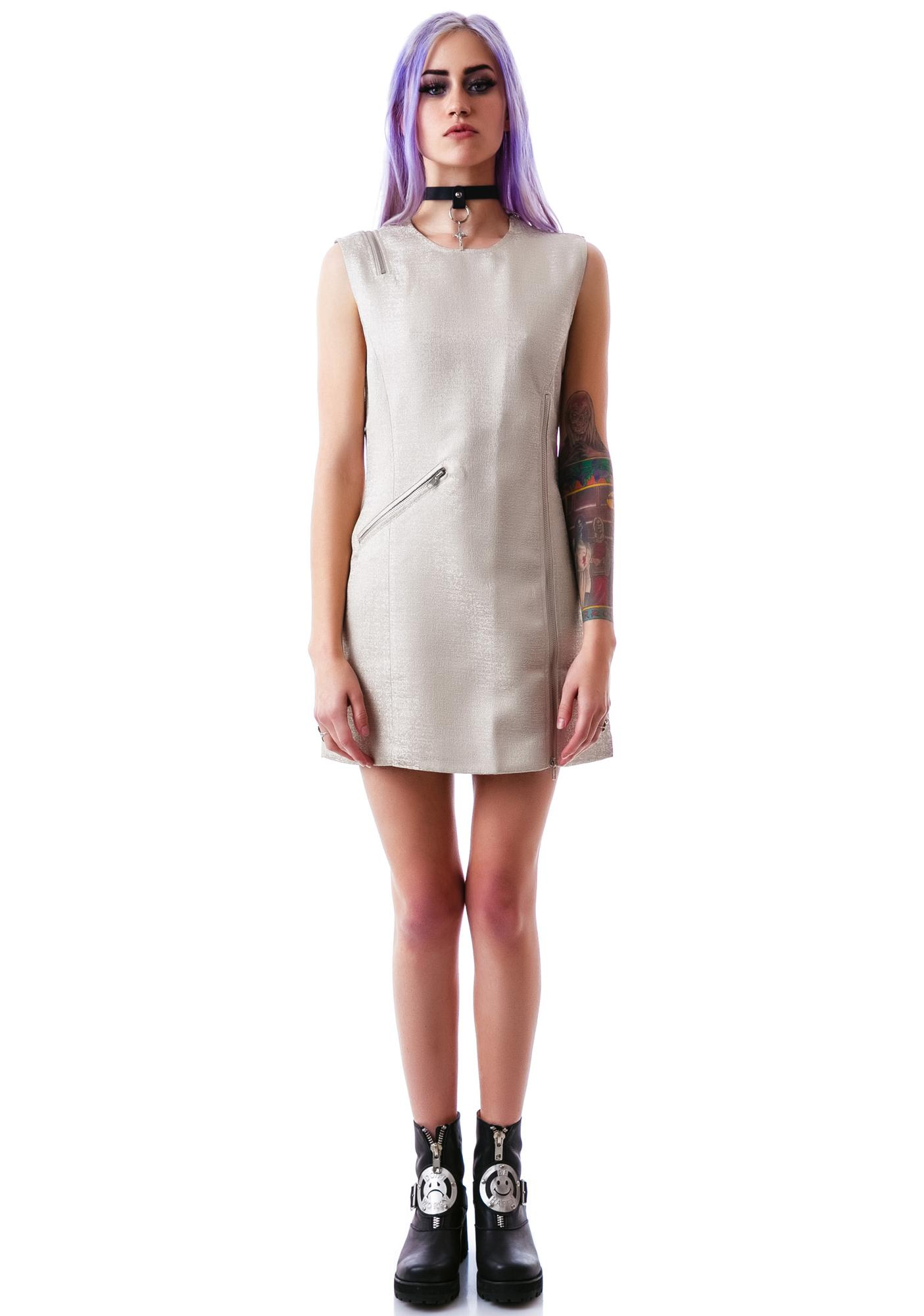 Kate Zipped Up Moto Dress
