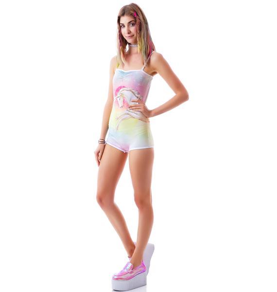 Too Fast Rainbow Unicorn Oh Snap Bodysuit