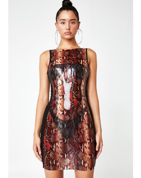 Bonnie Snakeskin Dress